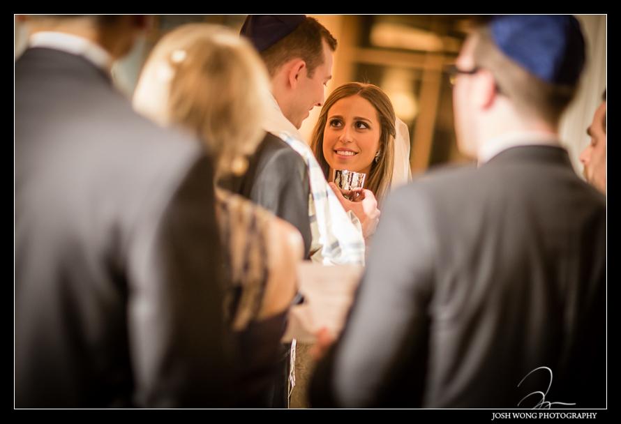 Intimate Jewish ceremony Glen Island Harbor Club Wedding New York. Pictures by NYC Wedding Photographer Josh Wong Photography