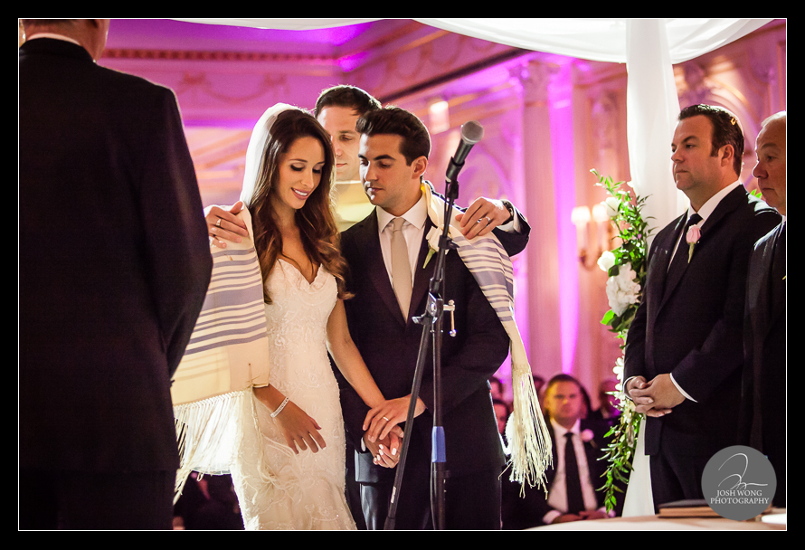 The wedding ceremony at JW Marriott Essex House. Wedding Pictures and photos provided by Josh Wong Photography, New York City