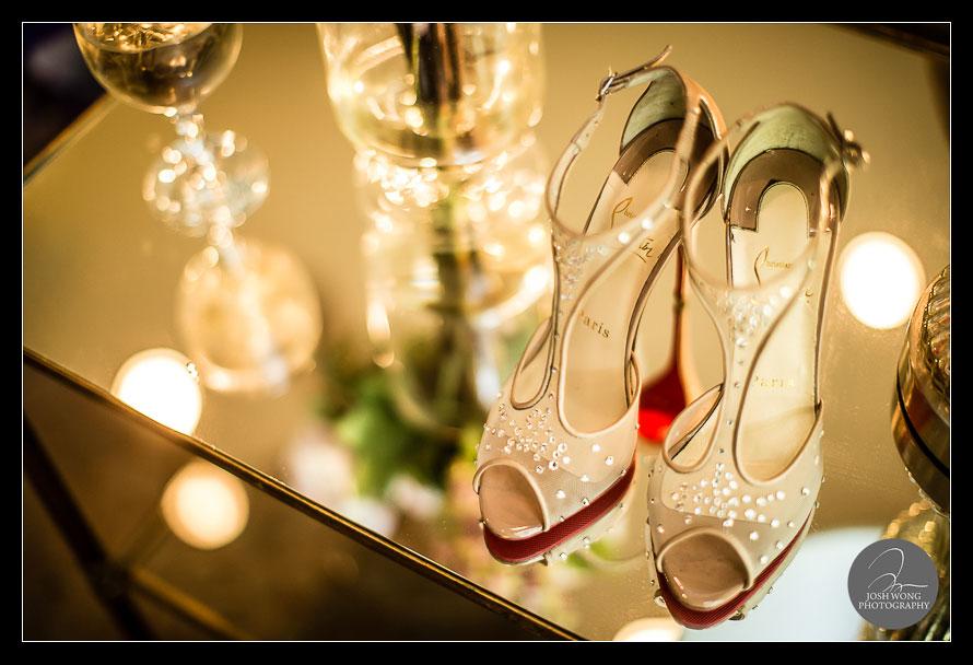 Christian Louboutin wedding shoes. The Ashford Estate Wedding Allentown, New Jersey. Wedding Pictures by NJ Wedding Photographer Josh Wong Photography