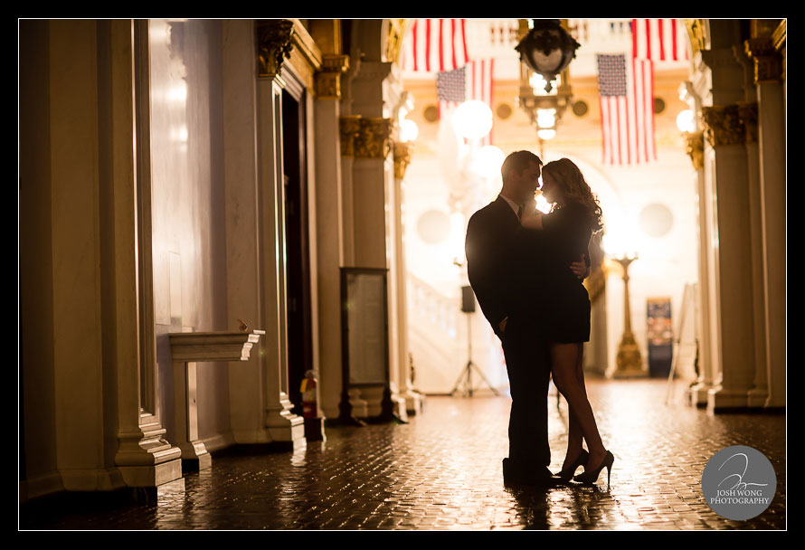 Pennsylvania State Capitol Building Engagement Pictures by Philadelphia Wedding Photographer Josh Wong Photography