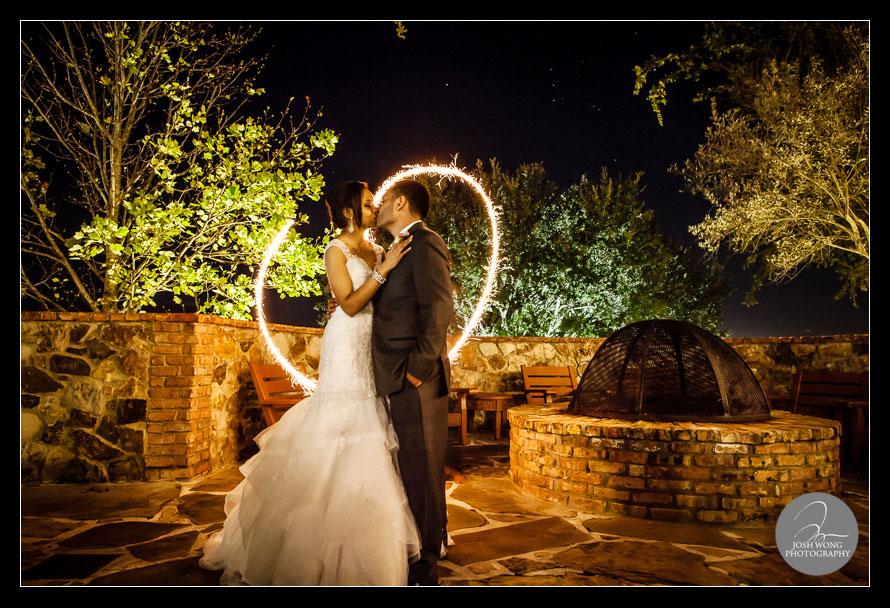 evening wedding image at the Bella Collina