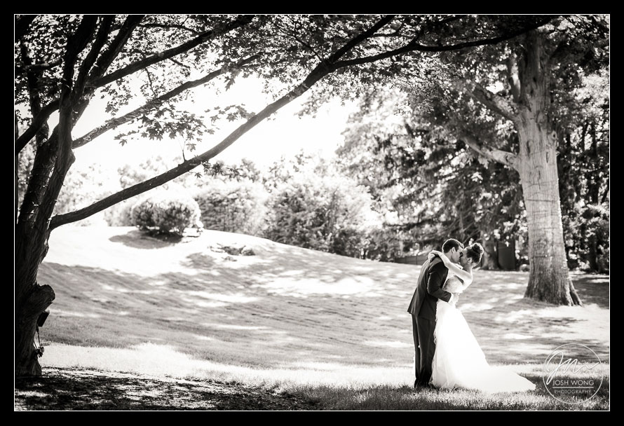 A special moment with the groom seeing his bride for the first time. Tappan Hill Mansion wedding photos.