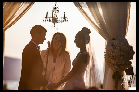 A sunset filled wedding ceremony at Tappan Hill Mansion, Tarrytown NY. Wedding pictures by Top New York Wedding Photographer Josh Wong Photography