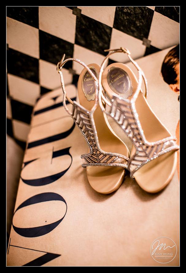 Rene Caovilla Wedding Shoes wedding pictures by top philadelphia wedding photographers Josh Wong Photography