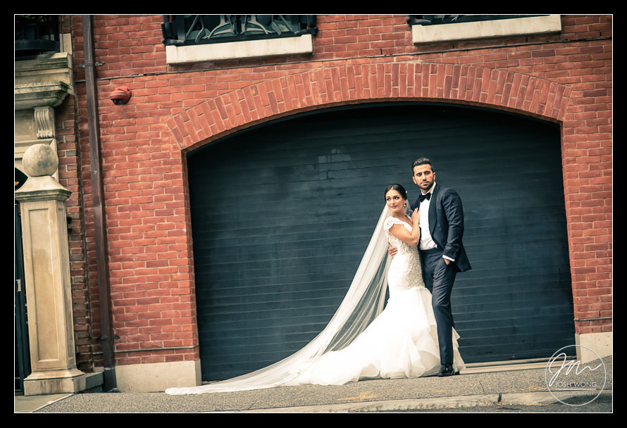 The bride and groom wedding portraits. New York Wedding pictures by Armenian wedding photographer Josh Wong Photography