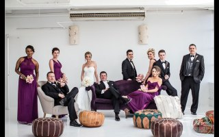 Studio 450 Rooftop Wedding. Wedding pictures by NYC Wedding Photographer Josh Wong Photography