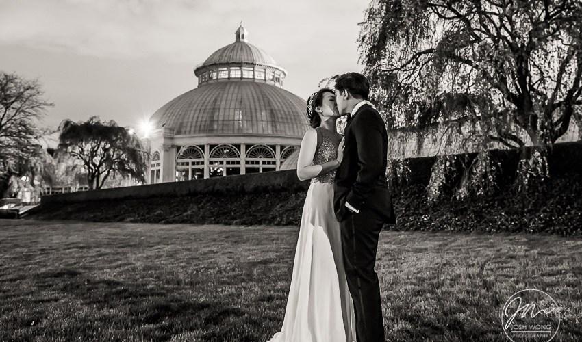New York Botanical Garden Wedding Pictures by NYC Wedding Photographer Josh Wong Photography