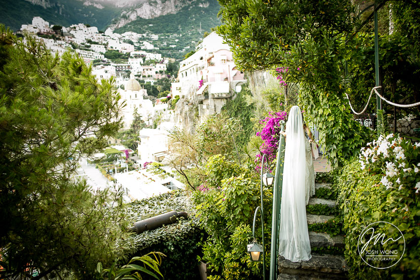 The steps in Positano - Destination Wedding Photography