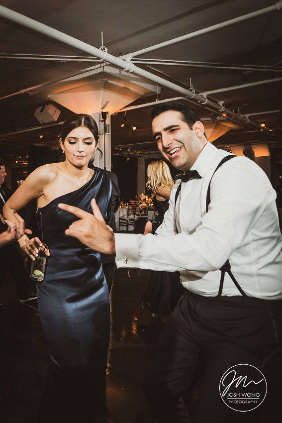 Dancing the night away at Tribeca 360+Rooftop. New York Weddings