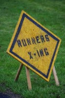 Runner X-ing Sign