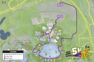 2018 Disney World 5k Course Map