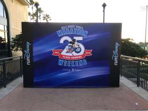 Walt Disney World Marathon Weekend 25th Anniversary banner