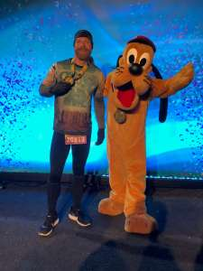 Josh Zeigler and Pluto after Disney World 5k