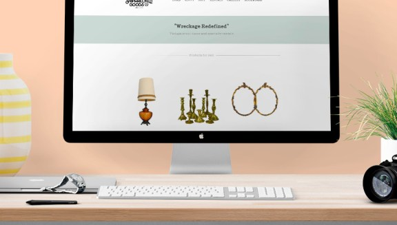shipwrecked goods wedesign logo design