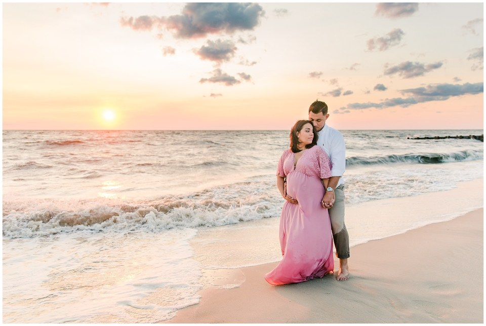 Eddie & Anisha's Blush Beach Maternity Session In Cape May, NJ