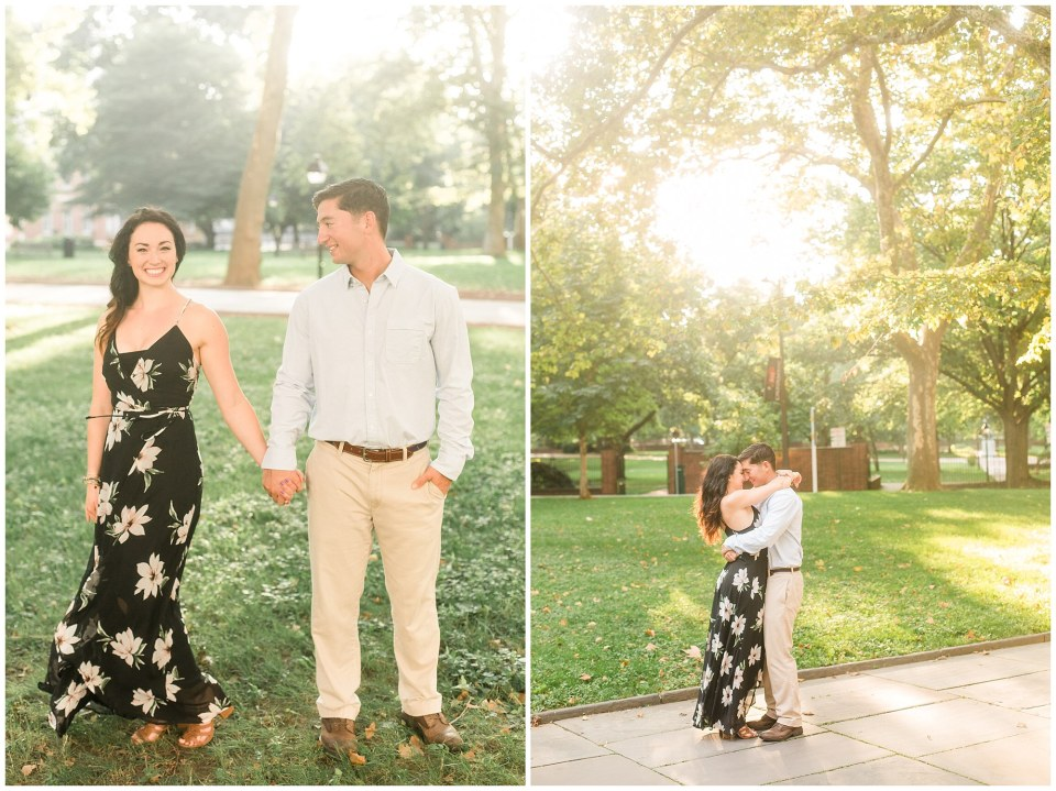 Rob & Sarah's Chic Engagement Session in Old City, Philadelphia Photos