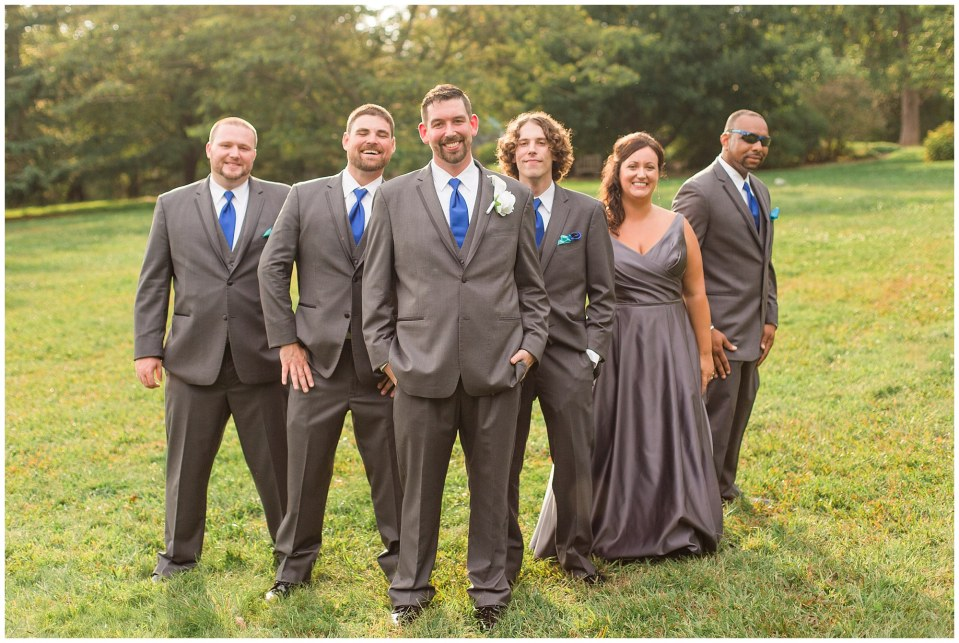A Blue & Grey Fall Wedding at Morris Arboretum in Chestnut Hill, PA