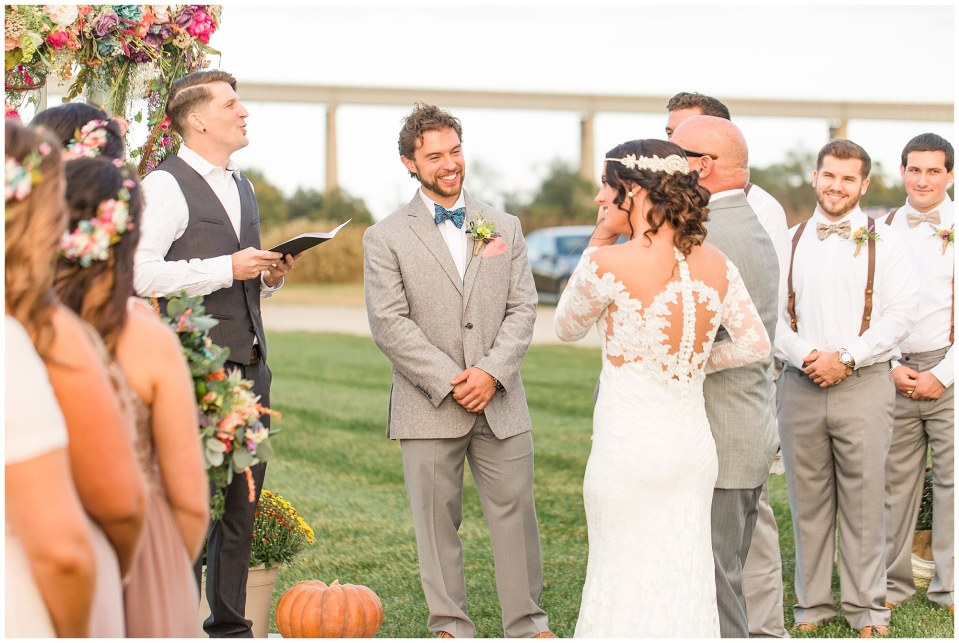 Cody & Hali's Boho Chic Barn Wedding at Thousand Acre Farms in Delaware Photos_0040.jpg