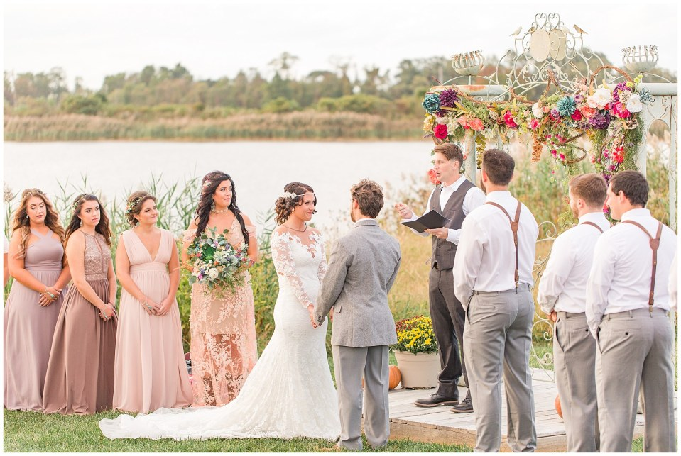 Cody & Hali's Boho Chic Barn Wedding at Thousand Acre Farms in Delaware Photos_0048.jpg