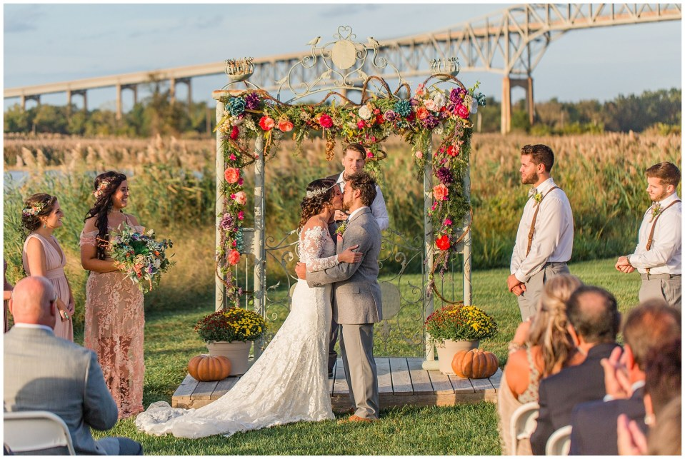 Cody & Hali's Boho Chic Barn Wedding at Thousand Acre Farms in Delaware Photos_0053.jpg