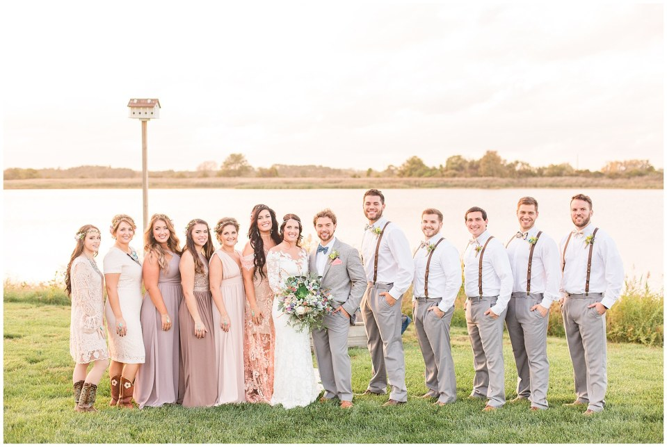 Cody & Hali's Boho Chic Barn Wedding at Thousand Acre Farms in Delaware Photos_0058.jpg