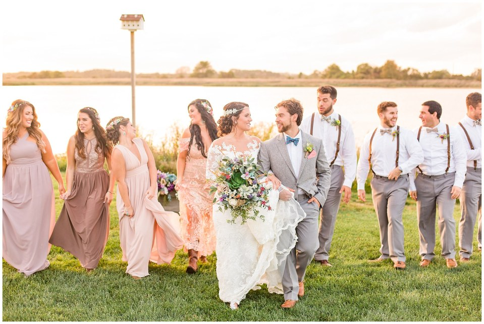 Cody & Hali's Boho Chic Barn Wedding at Thousand Acre Farms in Delaware Photos_0062.jpg