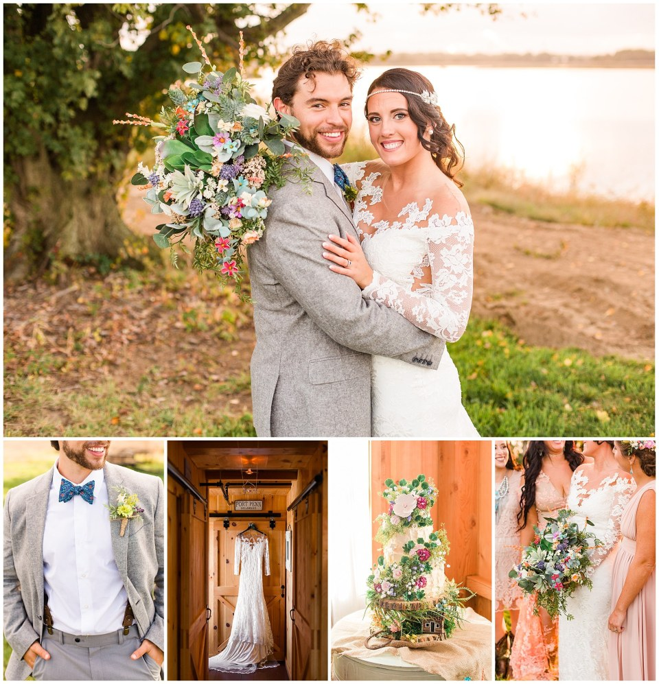 Cody & Hali's Boho Chic Barn Wedding at Thousand Acre Farms in Delaware Photos_0168.jpg
