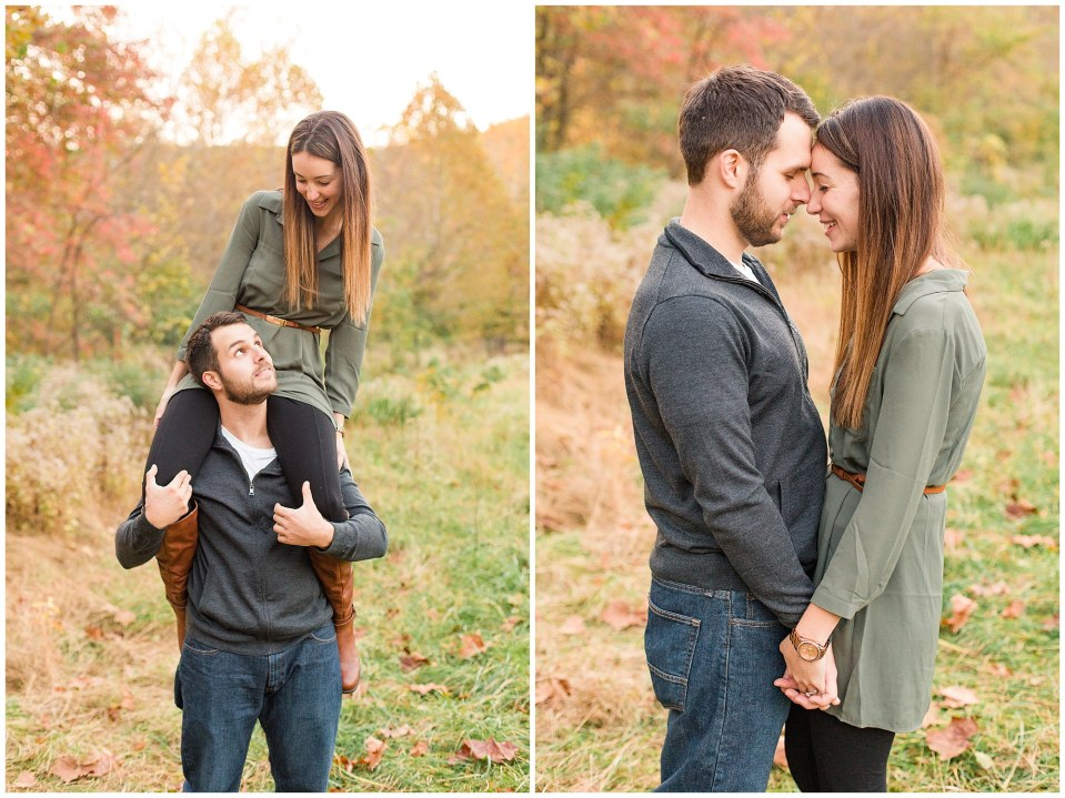 Mike & Jenny's Sunset Fall Engagement at Valley Forge Park and Philadner Chase Knox Estate Photos_0013.jpg