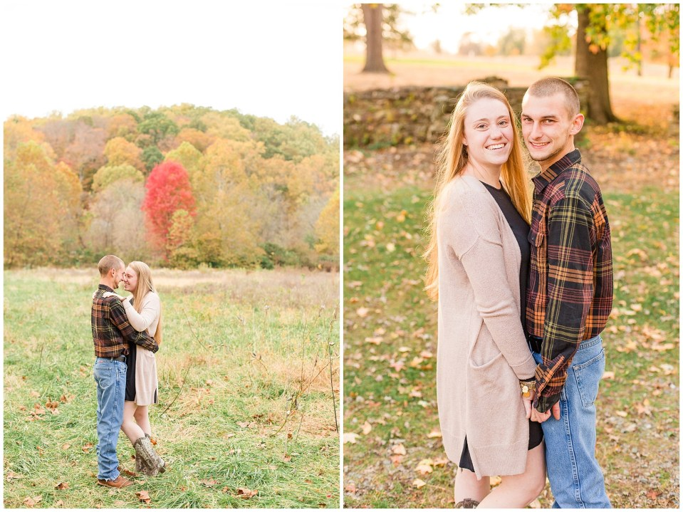 Sheldon & Stephanie's Country Fall Engagement Session at Valley Forge Park Photos_0009.jpg