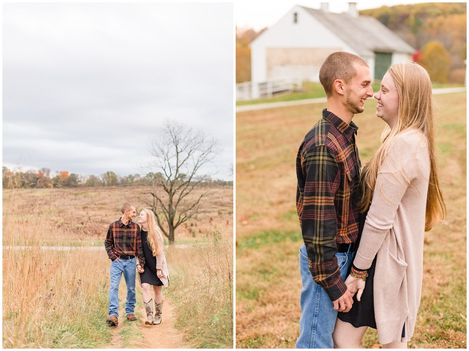 Sheldon & Stephanie's Country Fall Engagement Session at Valley Forge Park Photos_0022.jpg