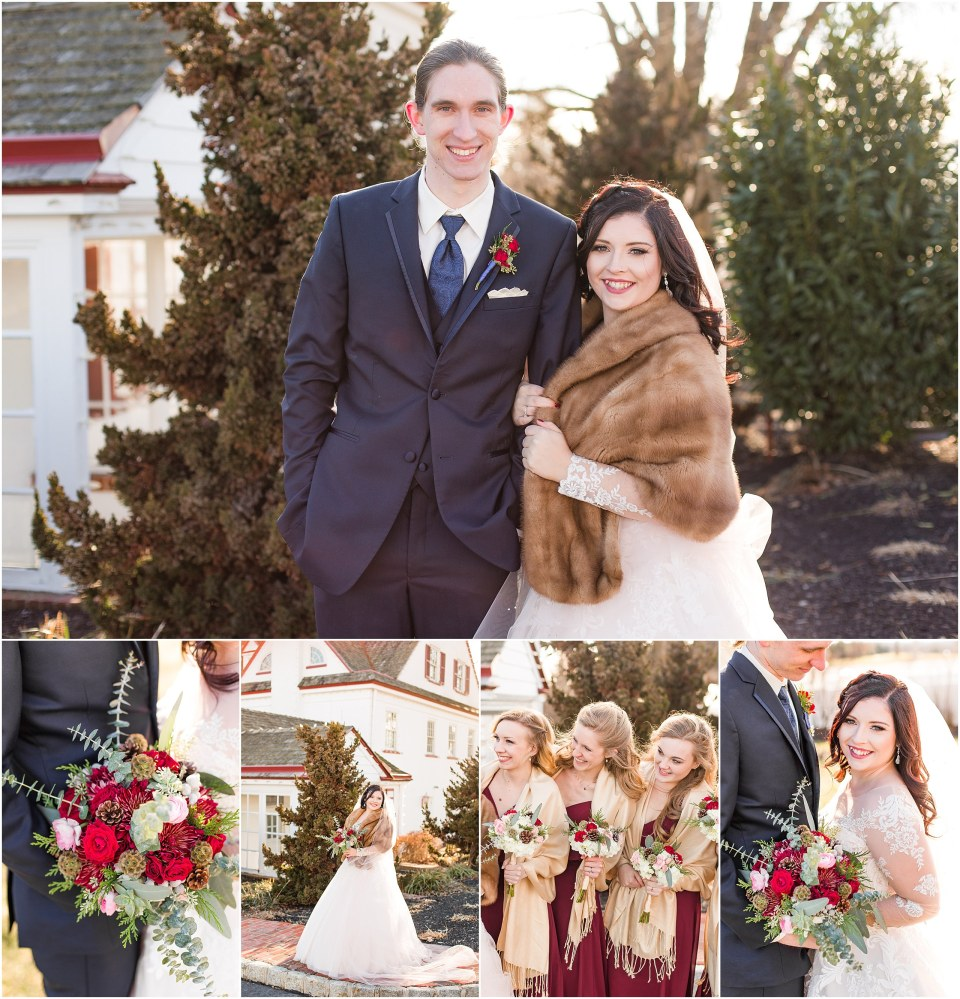 A Navy Maroon Winter Wedding At Normandy Farms In Blue