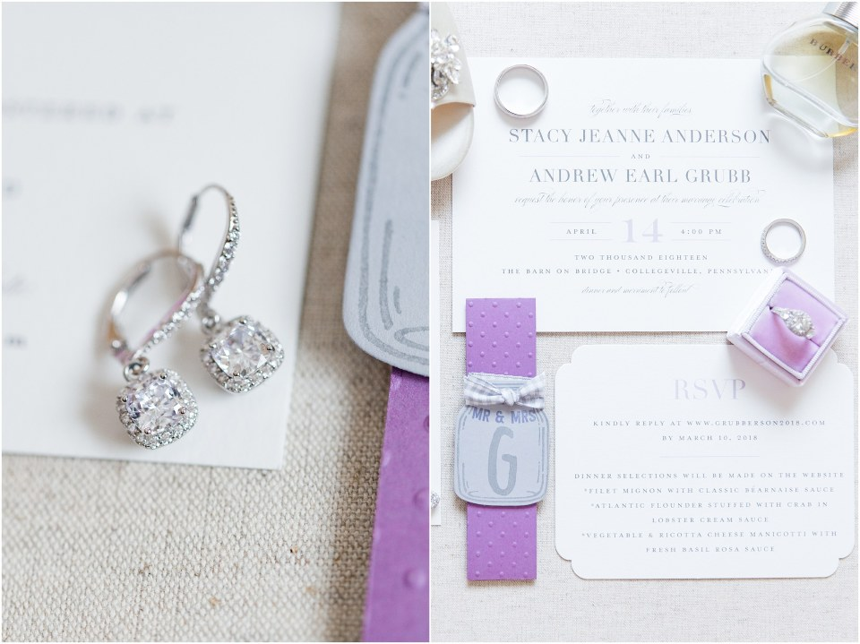 Andy & Stacy's Grey & Lavender Wedding at The Barn on Bridge in Collegeville, PA_0004.jpg