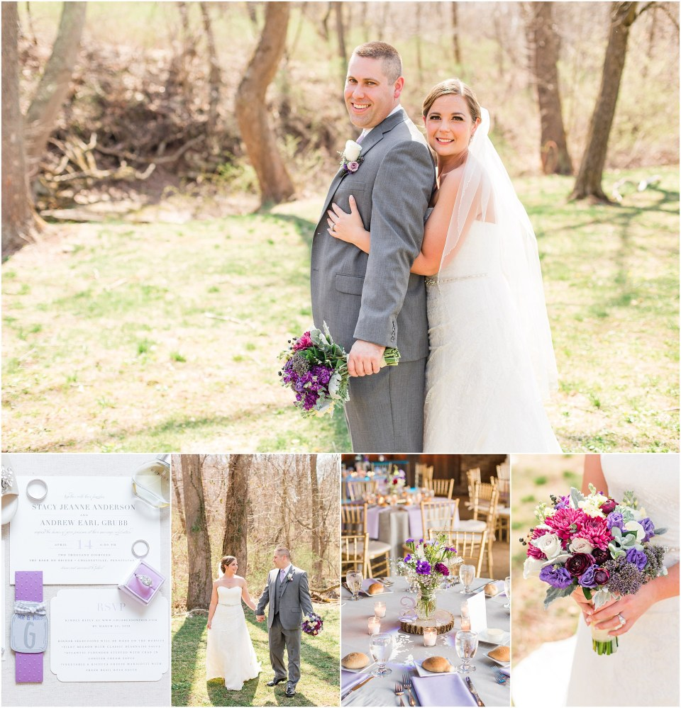 Andy & Stacy's Grey & Lavender Wedding at The Barn on Bridge in Collegeville, PA_0070.jpg