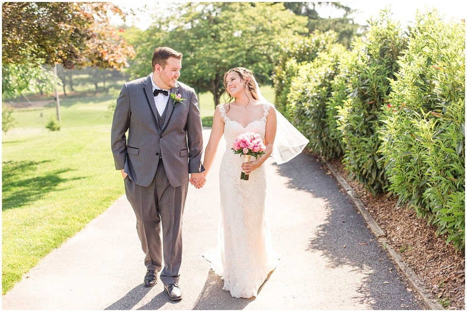 Doug & Danielle's Aqua & Grey Wedding at Penn Oaks Country Club,