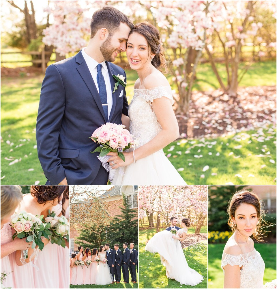 Mike Jenny S Navy Blush Wedding At Spring Mill Manor Josiah