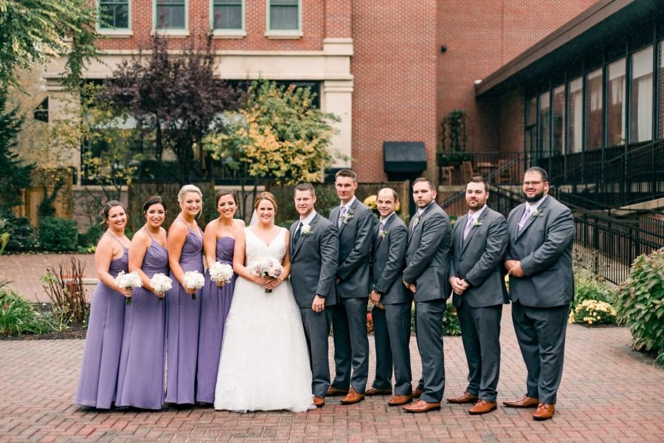 Joe & Sally's Rainy Wedding Day at The Radnor Hotel Photos