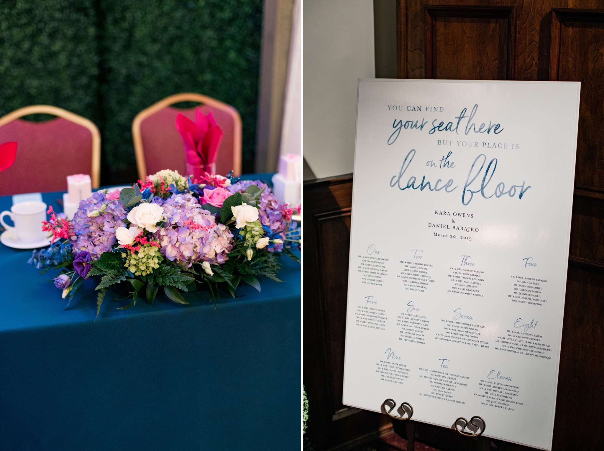 Seating Chart Staten Island Wedding