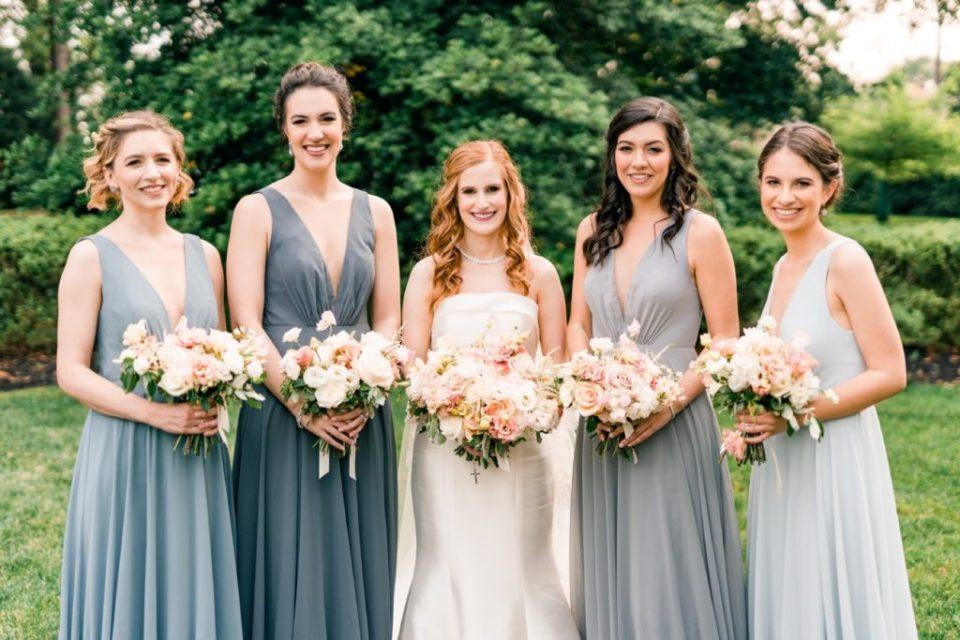Blue Bridesmaid Dresses - Knowlton Mansion