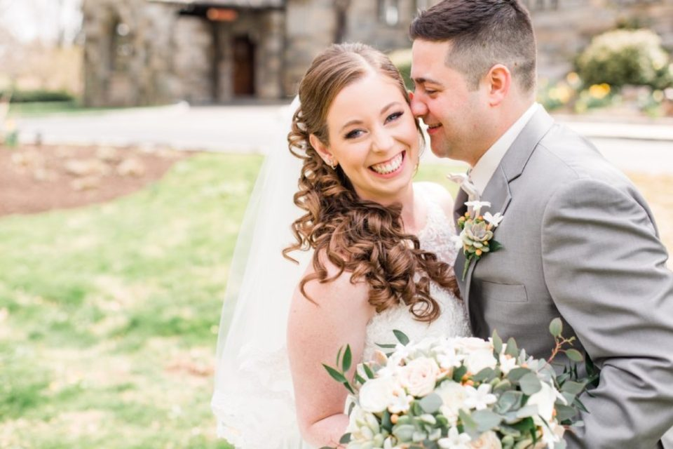 Bride and Groom Portraits at Marion Tribute House
