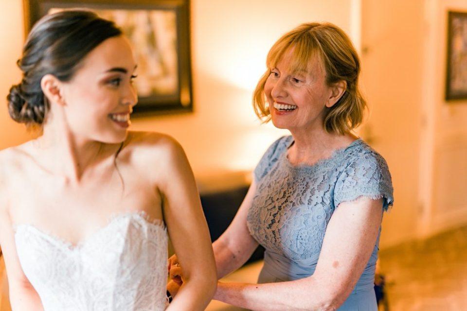 Bride Gets In Dress Photos