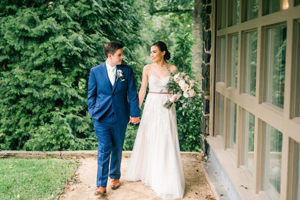 Bride And Groom Portraits at Anthony Wayne House Photos