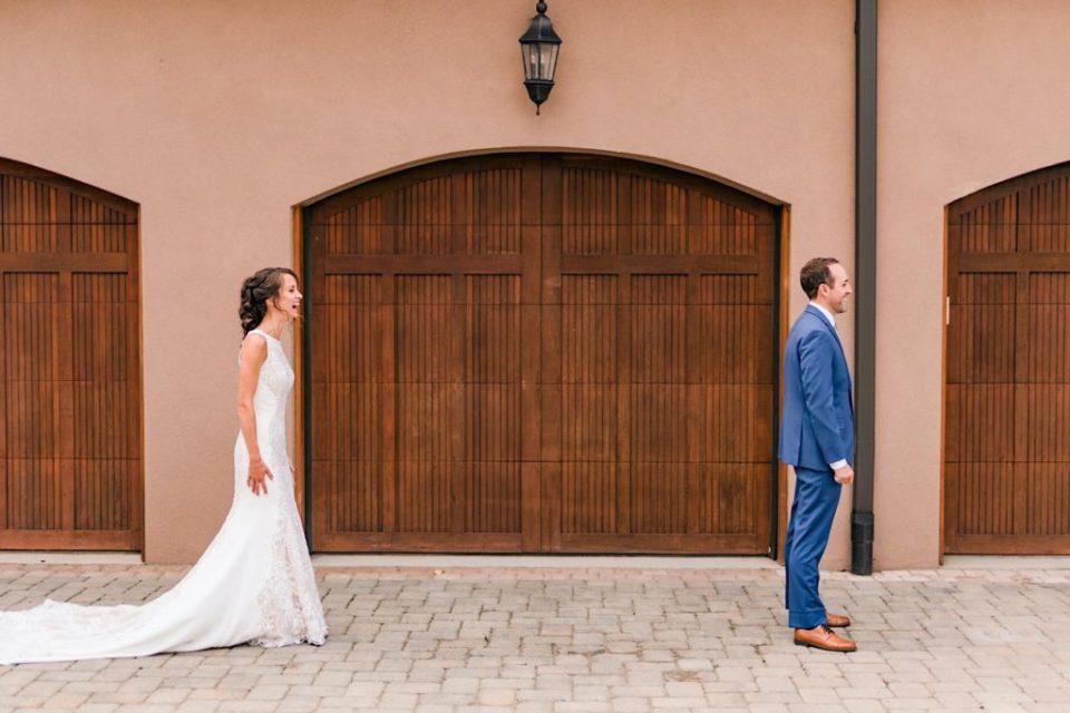 First Look Terrain Gardens Micro Wedding Photos