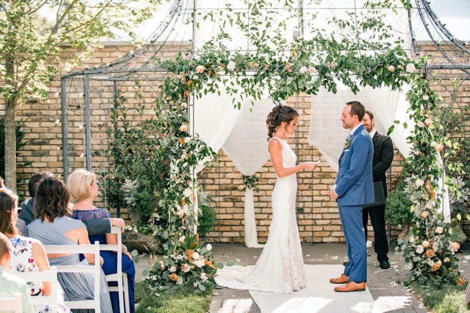 Ceremony Terrain Gardens Micro Wedding Photos