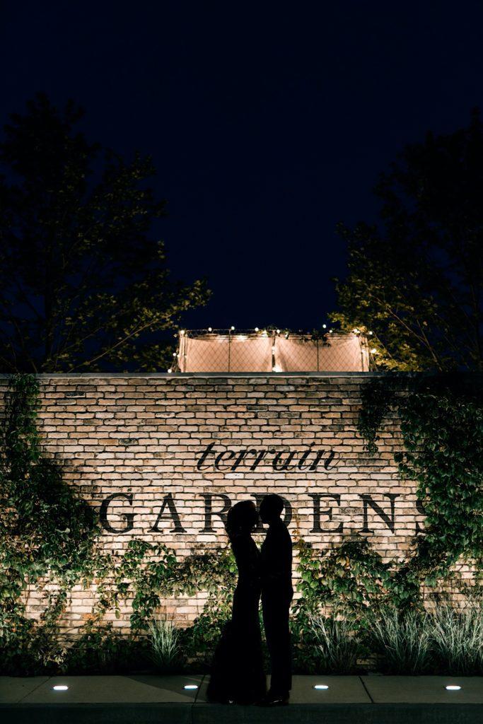 Night Photo Terrain Gardens Micro Wedding Photos