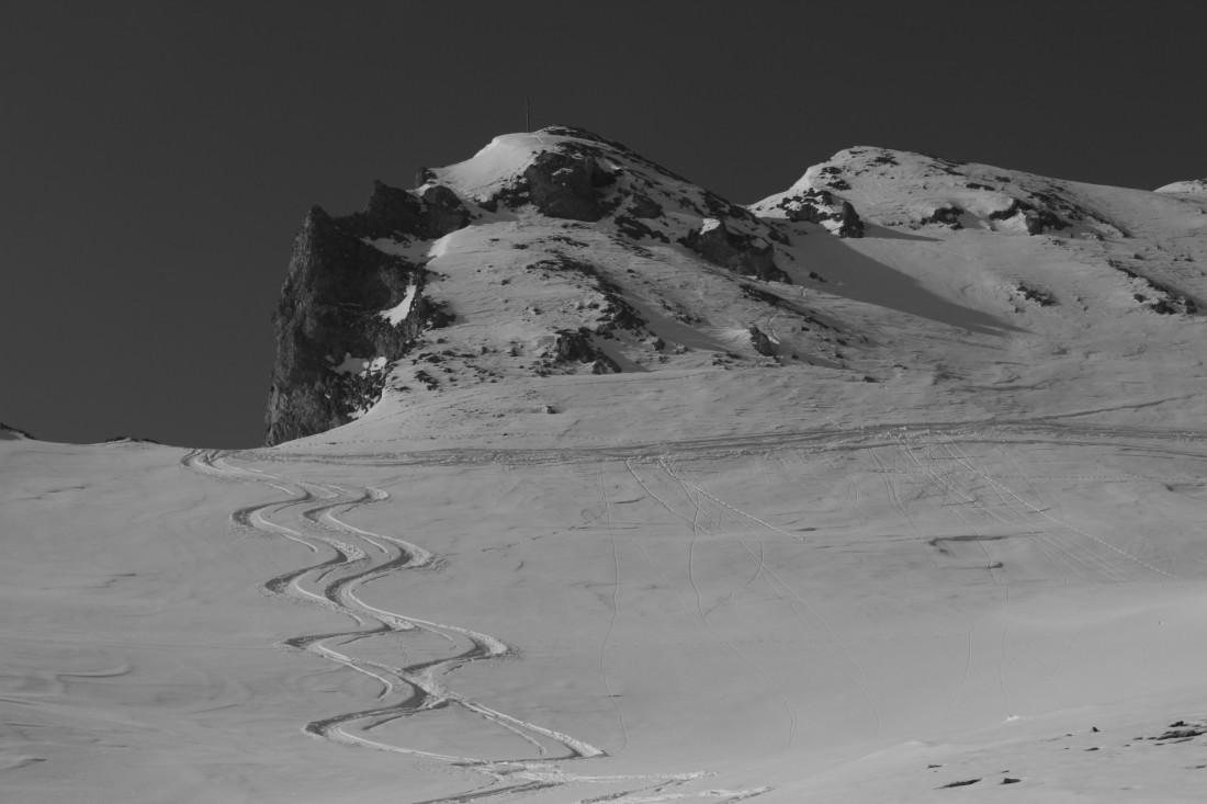 Ski season powder turns skiing.