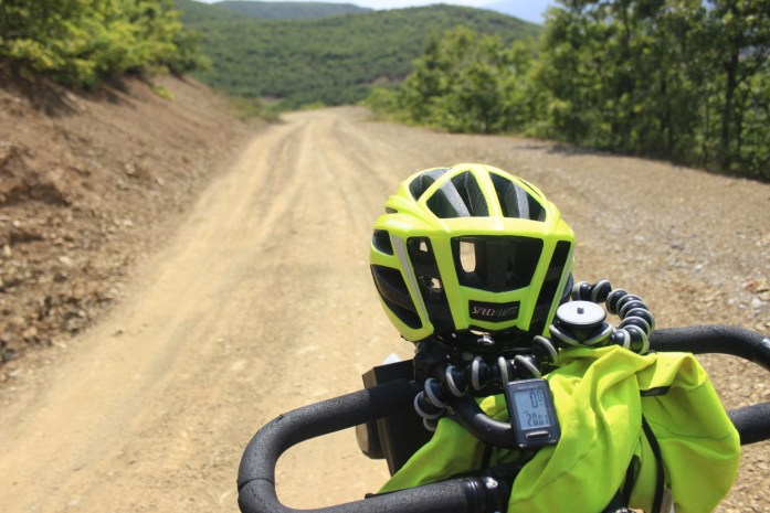 Poor quality remote adventurous road bike touring in Albania