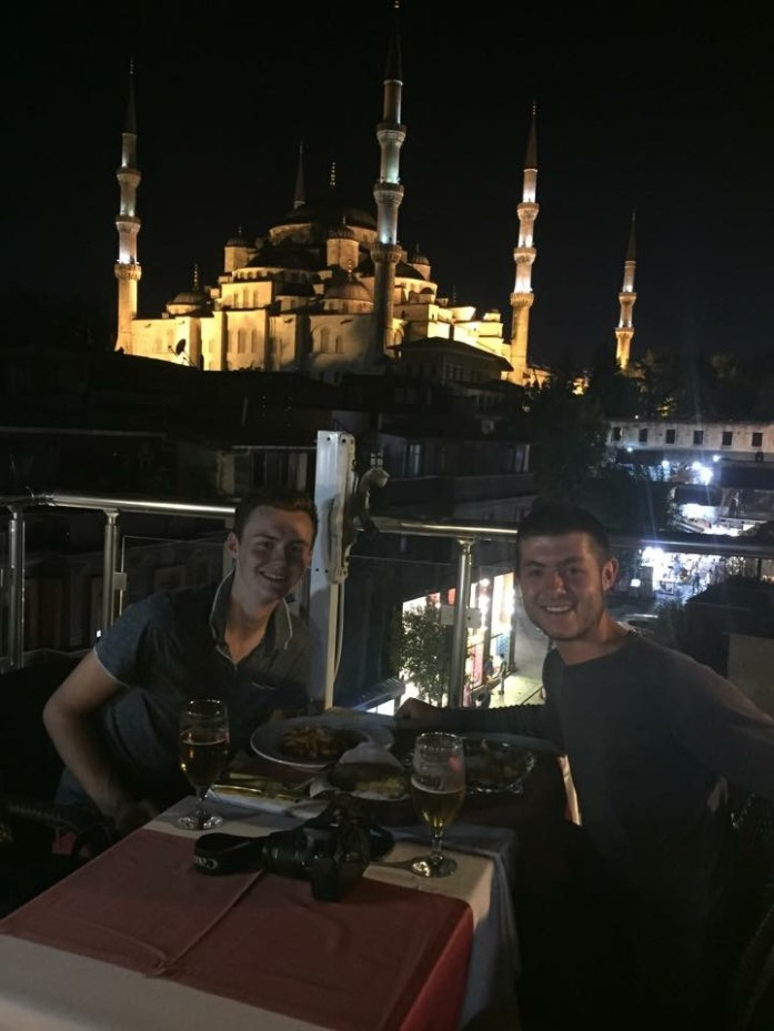 Enjoying a meal on the terrace. The spectacular blue mosque to my right, musically calling it followers to prayer, the Bosporous Strait on my left, reflecting the moon. and beyond that? The whole of Asia - full of promise, and adventures, and experiences, and challenges, awaiting me.