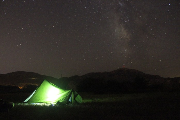 Camping under the Milky Way in Turkey.