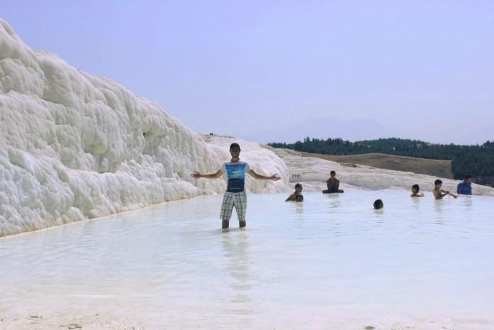 Bathing in Western Turkey's Pamukkale