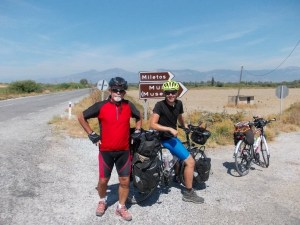 Cycling south-west Turkey with other bike tourers.